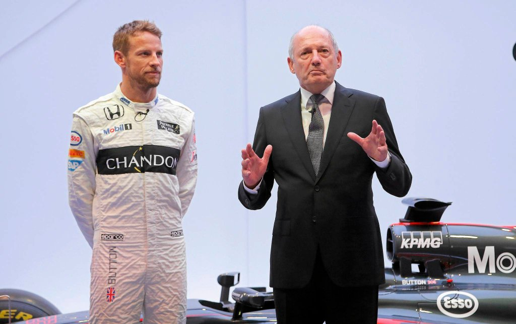 Jenson Button i Ron Dennis