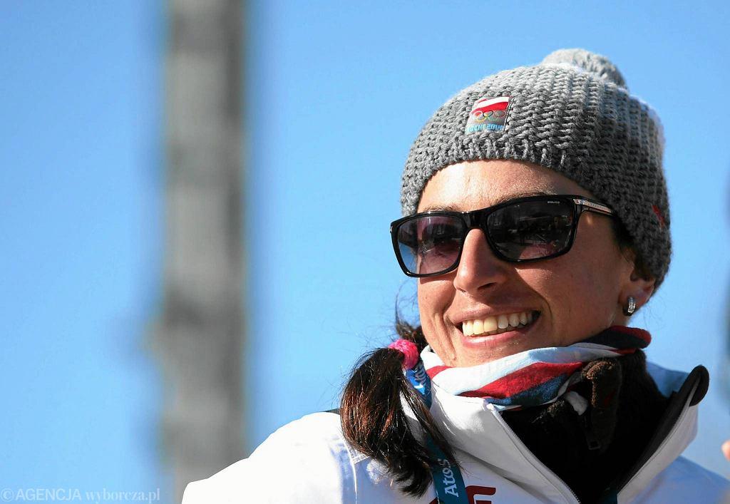 Justyna Kowalczyk po treningu na trasach olimpijskich przed igrzyskami