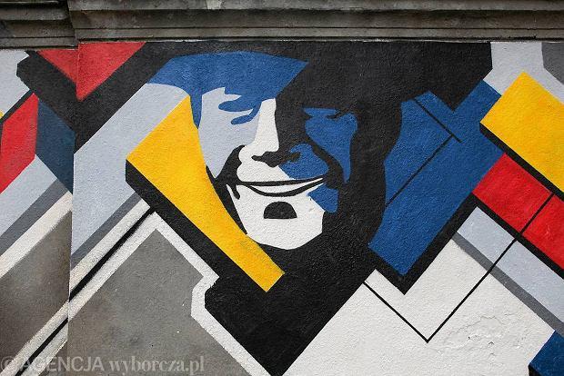 Mural na muranowie dwustronny dedykowany lachertowi for Mural ursynow