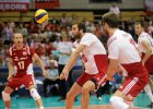 Liga Światowa. Polska - Rosja 3:0. Piłkę przyjmuje Mateusz Mika