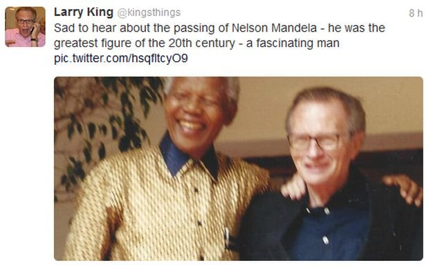 Larry King i Nelsona Mandela