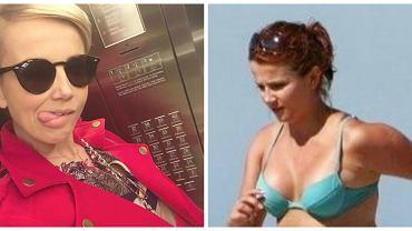 Kasia biegnie w bikini, a zdjęcie komentuje Ania Lewandowska