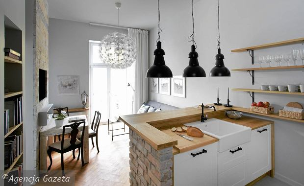 Salon po czony z kuchni 15 pomys w na aran acj for Polaczenie kuchni z salonem