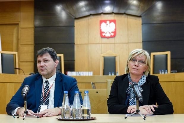 Wiceprezes TK Mariusz Muszyński i prezes TK Julia Przyłębska