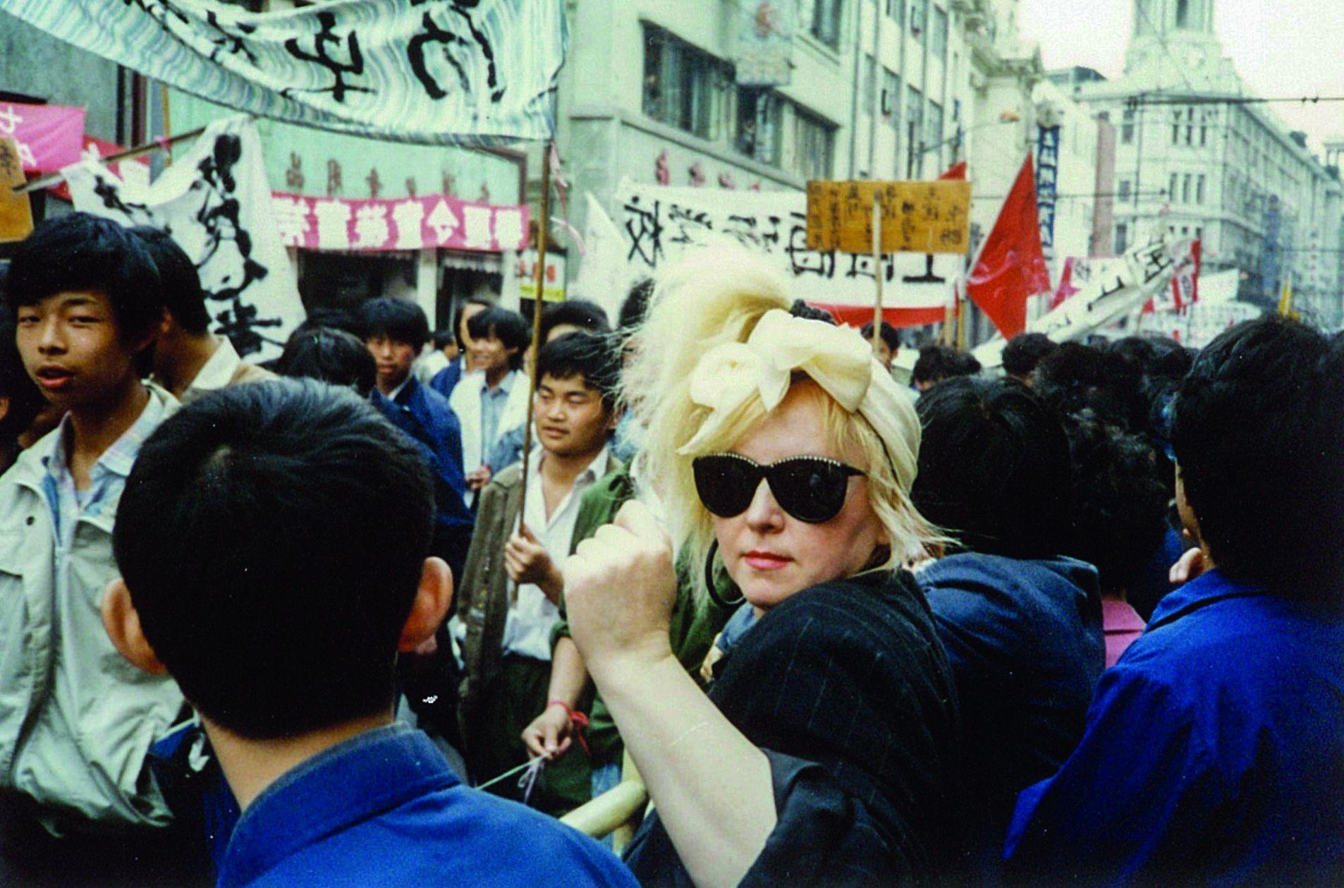 Maryla Rodowicz w Pekinie. 1989 rok (fot. archiwum prywatne)