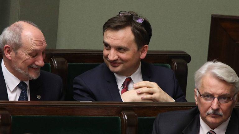 Zbigniew Ziobro w sejmowych ławach