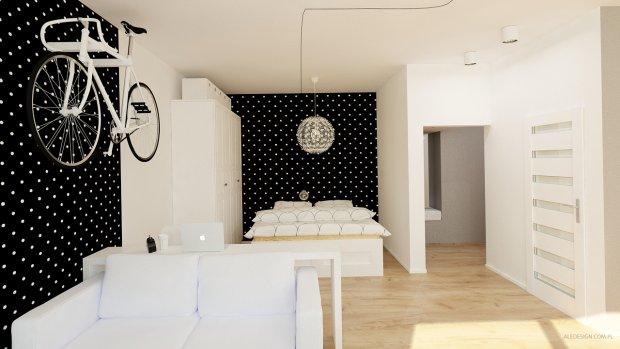 Projekt mieszkania, Katowice, kawalerka