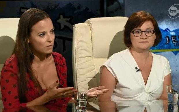 Anna Mucha kontra Terlikowska w studiu TVN24. Czy rodzice powinni chodzi� nago przy dzieciach? Zgody nie by�o, ale na koniec...