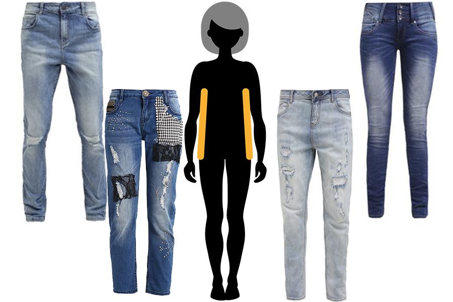Idealne jeansy dla chłopięcej sylwetki