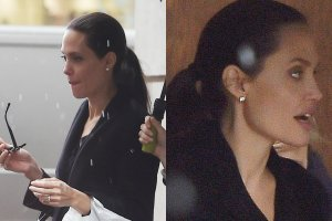 Angelina Jolie trafia ostatnio na pierwsze strony tabloid�w nie z powodu swoich osi�gni�� artystycznych, lecz rzekomych powa�nych problem�w ze zdrowiem. Gwiazda zmaga si� podobno nie tylko z zaburzeniami od�ywiania, ale r�wnie� depresj� i paranoj�, a wszystko to wyra�nie odbija si� na jej formie i wygl�dzie. S�yn�ca niegdy� z seksownych kszta�t�w gwiazda wa�y teraz pono� zaledwie... 39 kilogram�w. Niedawno paparazzi przy�apali Angelin� Jolie w Londynie na spacerze z dzie�mi. Cho� gwiazda pr�bowa�a zamaskowa� swoj� szczup�� sylwetk� lu�nym strojem, to i tak wida�, �e nie jest w najlepszej formie.