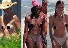 Dra�ni� je bia�e �lady po stanikach, wi�c... opalaj� si� bez! Uma Thurman, Naomi Campbell i inne toples na pla�y