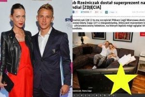 Jakub Rze�niczak dosta� od dziewczyny telewizor na mundial. Internauci dostrzegli jednak wpadk� i s� bezlito�ni
