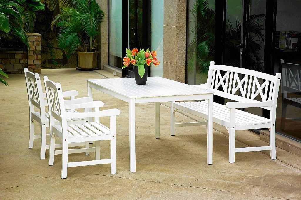 HVIDE SANDE, drewno parana, stół, 50 x 90 cm; ławka, 158 x 62 cm; krzesła, 2 sztuki, 1995 zł/zestaw Jysk