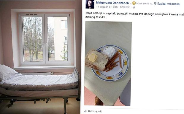 Pacjenci szczeci�skiego szpitala oburzeni. Nie zgadniecie, co dostaj� na kolacj�
