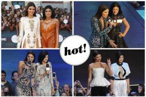 Kendall i Kylie Jenner w czterech odwa�nych kreacjach oraz inne m�ode gwiazdy na gali MuchMusic Awards