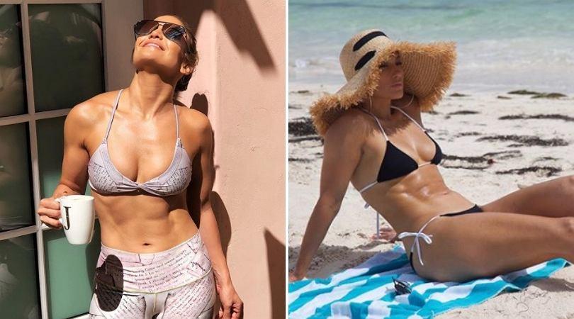 Jennifer Lopez trenuje na wakacjach