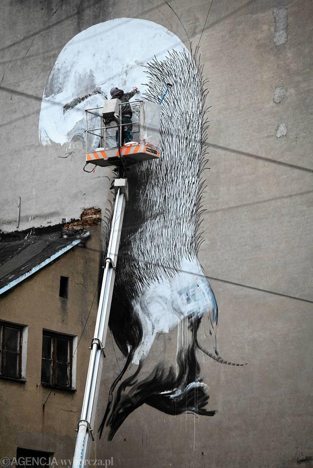 Wielki mural przy ul nowomiejskiej roa ju maluje for Mural z papiezem franciszkiem