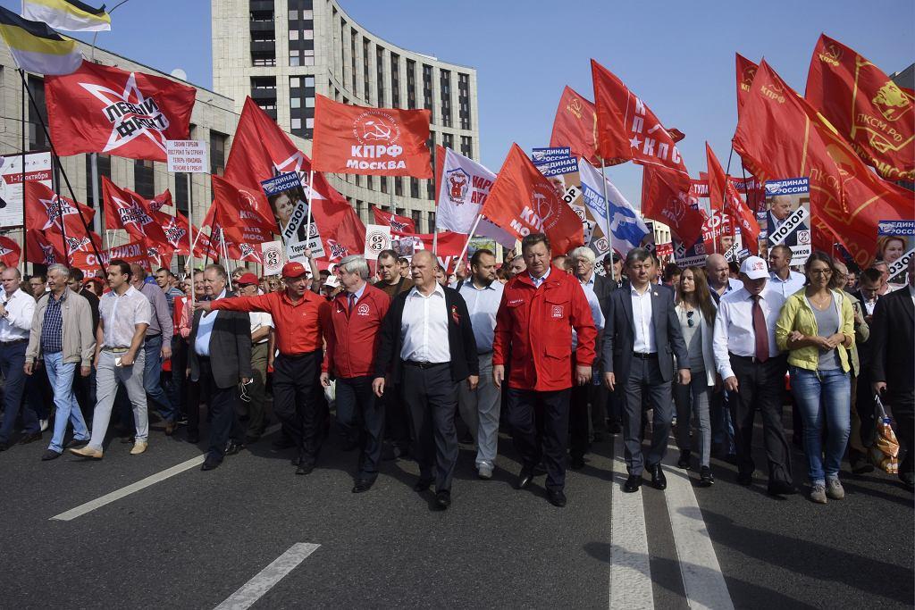 Protesty przeciw reformie emerytalnej w Rosji.