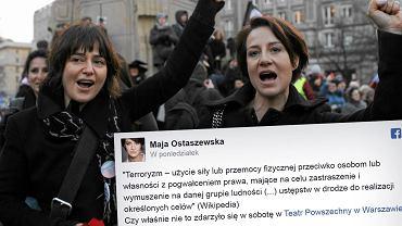 Maja Ostaszewska ostro o zamieszkach pod teatrem