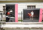 Zamalowali sprejem goliznę na ulicznej wystawie fotografii