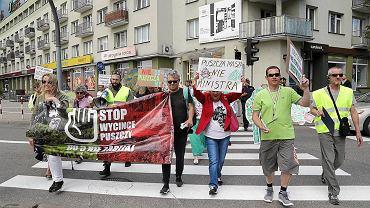 Protest w sprawie wycinki Puszczy Białowieskiej