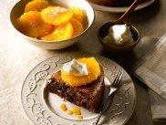 Czekoladowe clafoutis z karmelizowanymi pomara�czami