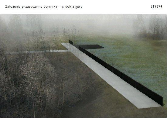 Projekt pomnika ofiar katastrofy w Smoleńsku