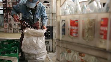 Hurtownia odpadów kolorowych i złomu, oraz skup butelek. Sulejówek, 8 października 2008