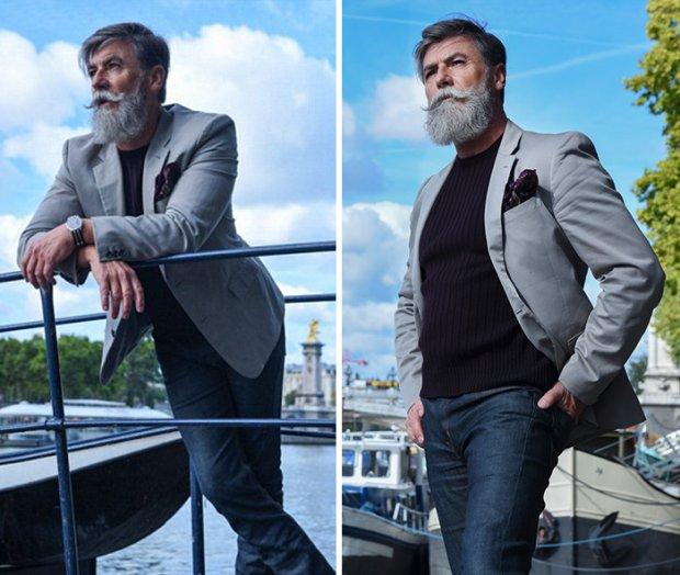 Ma 60 lat i właśnie zaczął karierę modela