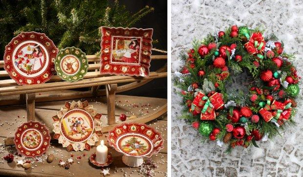 Czerwono-zielone dekoracje świąteczne
