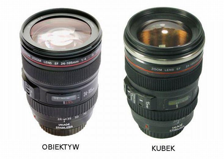 Kubek w kształcie obiektywu / www.takapaka.pl