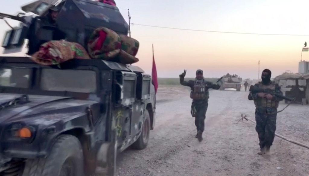 Irackie siły zbrojne w drodze do Kirkuku