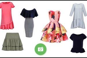 Ubrania z falbanami, czyli moda na fali