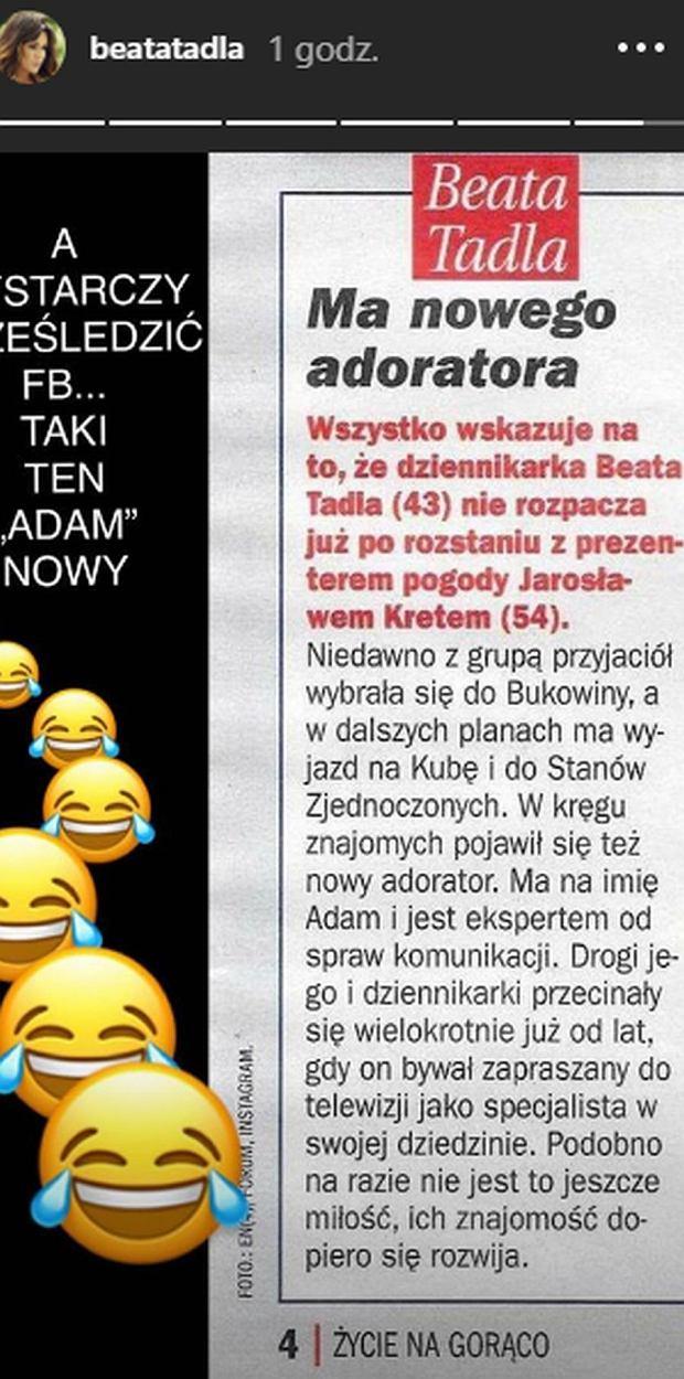 Beata Tadla ma nowego chłopaka - ona komentuje plotki