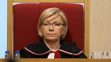 Prezes Trybunału Konstytucyjnego Julia Przyłębska. Rozprawa w sprawie nowelizacjii ustawy o Trybunale Konstytucyjnym. Warszawa, 8 marca 2016