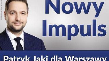 Patryk Jaki przedstawił swoje nowe hasło wyborcze - 'Nowy impuls' - i zapowiedział, że Warszawa nie potrzebuje radykalnych zmian.