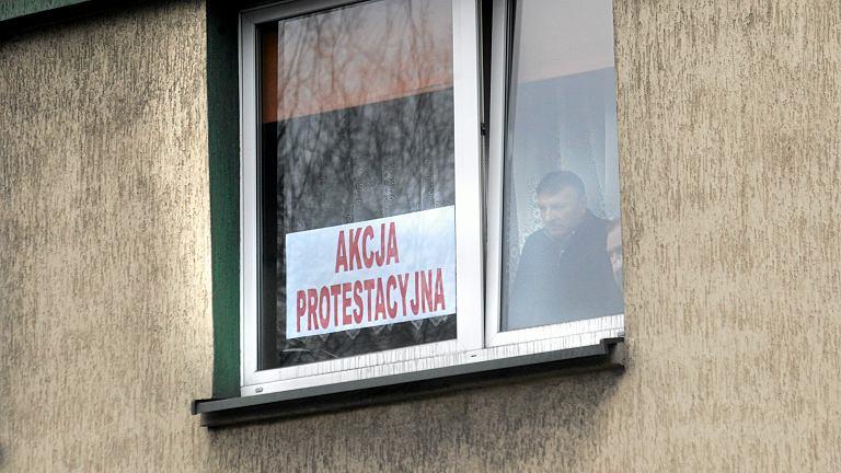 Akcja protestująca górników / zdjęcie ilustracyjne