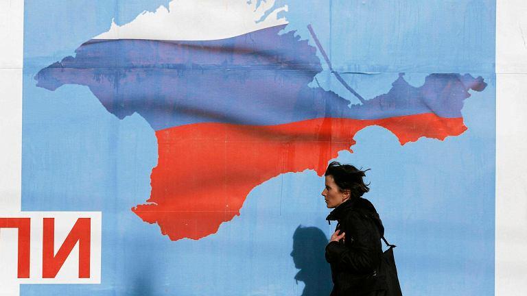 Przedreferendalny plakat okazał się proroczy. Krym właściwie należy już do Rosji
