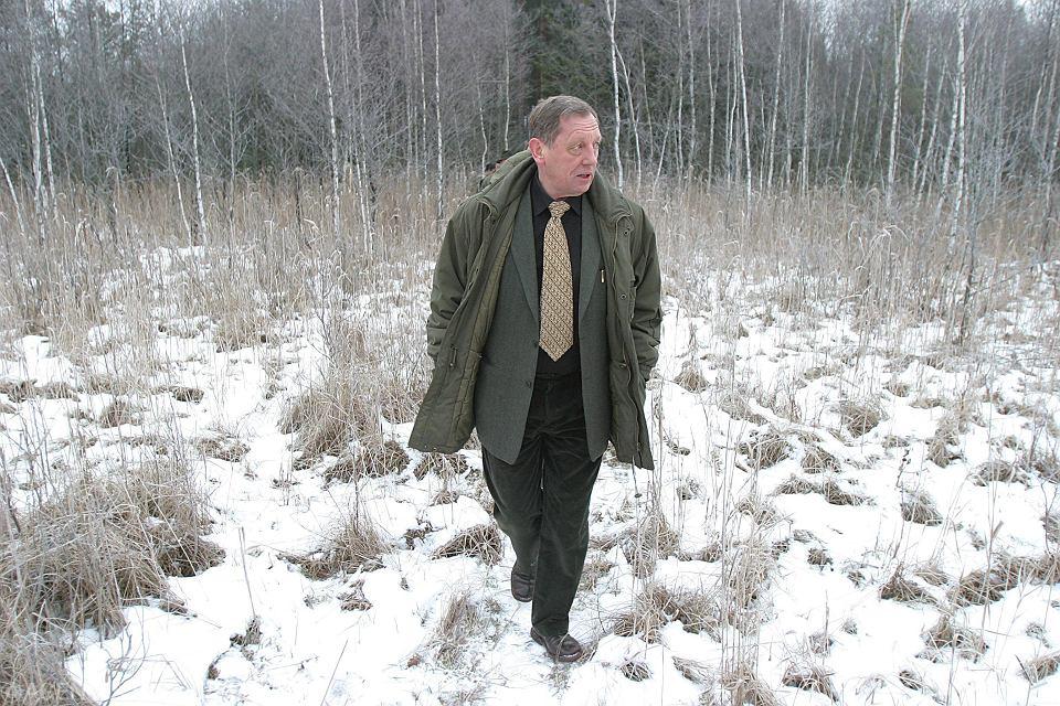 Grudzień 2005, minister Jan Szyszko odwiedza dolinę Rospudy