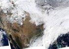 Zdj�cie zrobione przez satelit� NASA nad Stanami Zjednoczonymi 2 stycznia