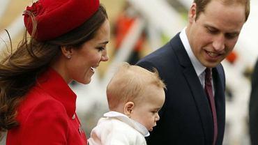Księżna Kate, książę George i książę William