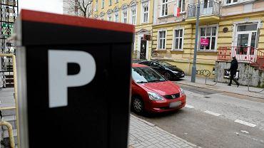 Parkomat przy ul. Mrongowiusza w Olsztynie