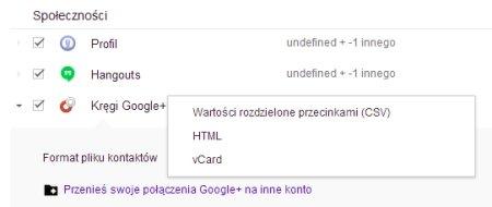 Kopia zapasowa danych z Google