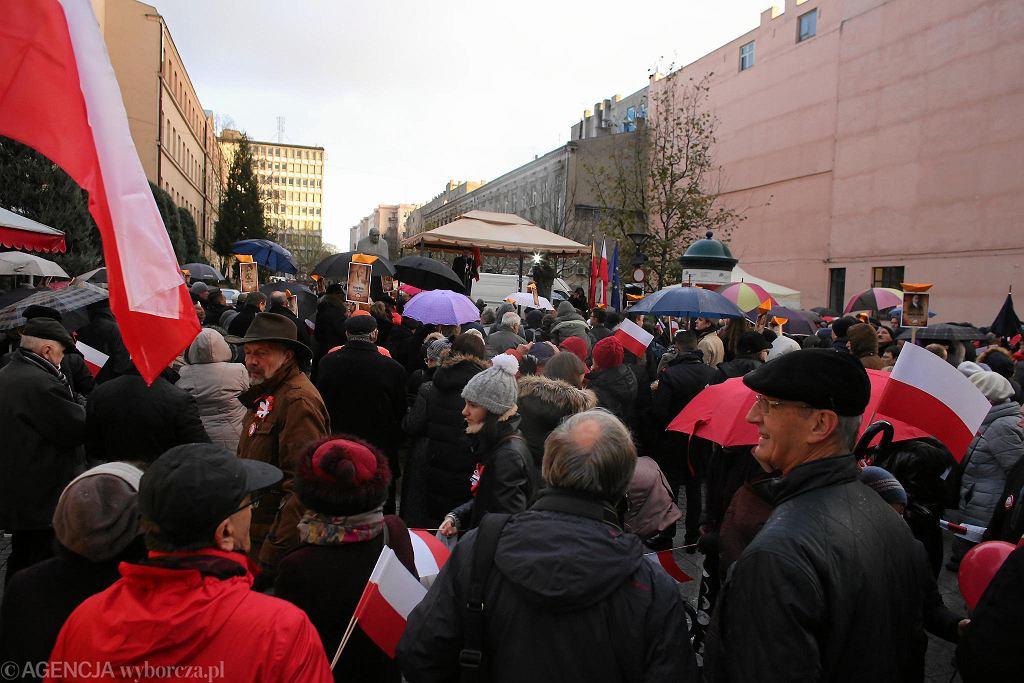 11 listopada. Marsz KOD ul. Piotrkowską 'Łódź Niepodległości'