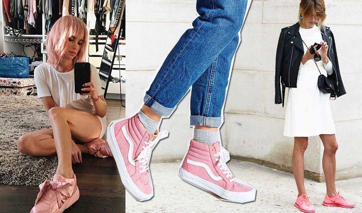 Najmodniejsze buty sezonu - różowe sneakersy