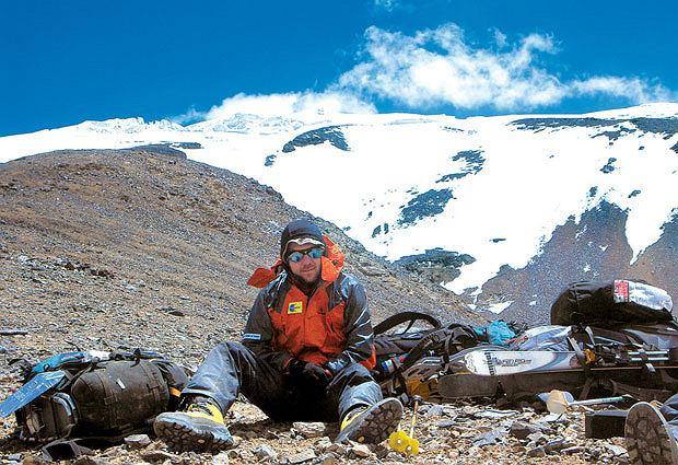 Mój pierwszy raz: zjazd na nartach z 6 tys. metrów, sport, góry, mój pierwszy raz, narty, W drodze do obozu pierwszego