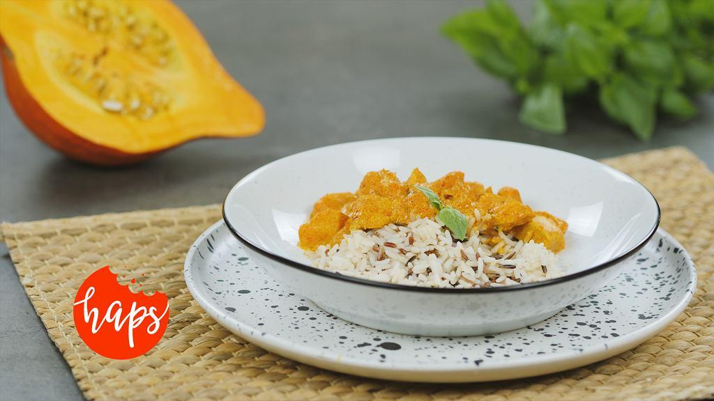 Curry z dynią i kurczakiem Haps