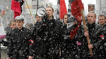 Spadkobiercy Piaseckiego - Manifestacja ONR Falanga w Olsztynie