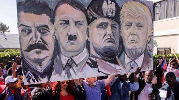 Protest haitańskiej mniejszości w USA, w którym wyrażali sprzeciw wobec słów Donalda Trumpa