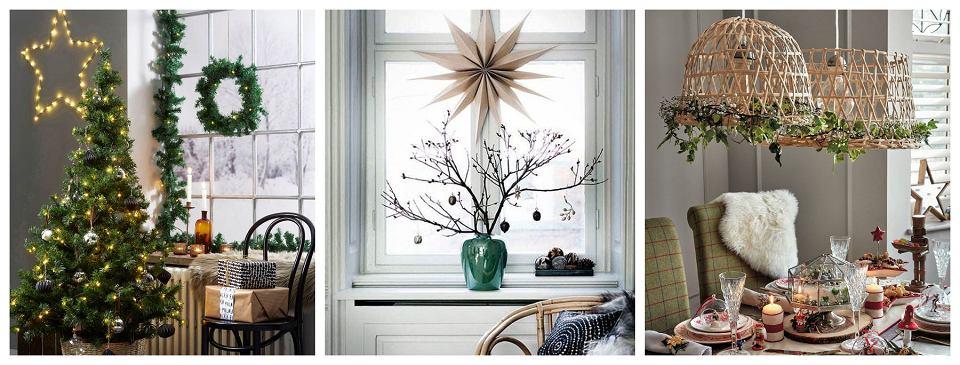 Świąteczne dekoracje z gałązek